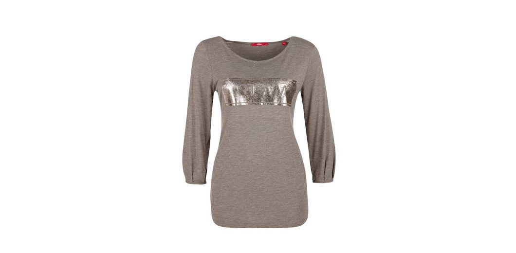 s.Oliver RED LABEL Shirt mit Folienprint Rabatt Bilder En2RBrBp