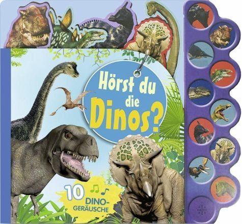 Buch mit Papp-Einband »Soundbuch Hörst du die Dinos?«