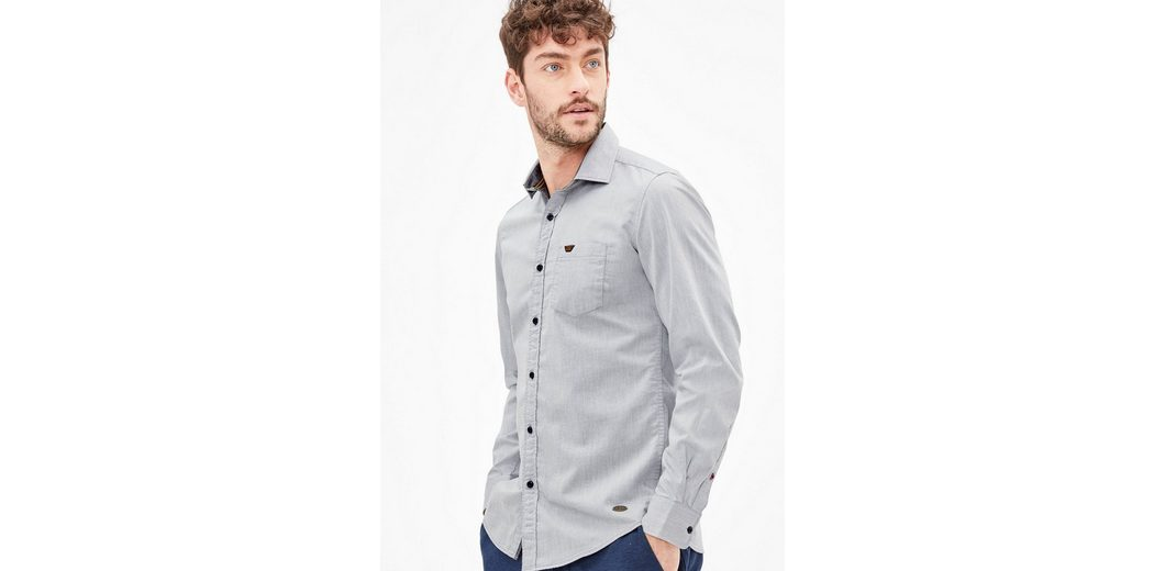 s.Oliver RED LABEL Slim: Hemd aus leichtem Twill Neue Stile Online Mit Mastercard Günstig Online Angebote Günstigen Preis m7gYbYIsVy