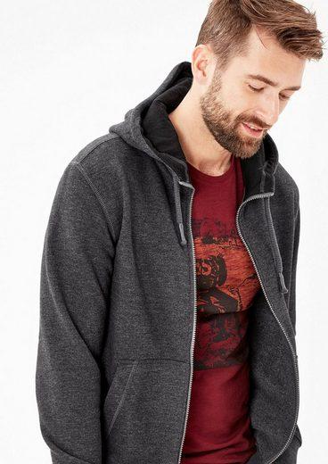 S.oliver Étiquette Rouge Melierter Zipp-hoodie