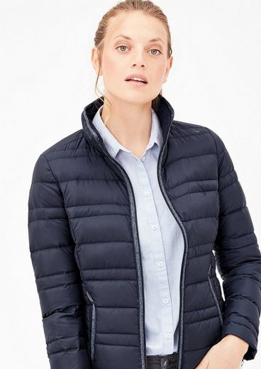 s.Oliver RED LABEL Light Down-Steppjacke mit Piping