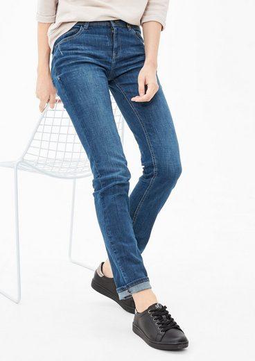s.Oliver Shape Slim: Jeans mit Used-Details