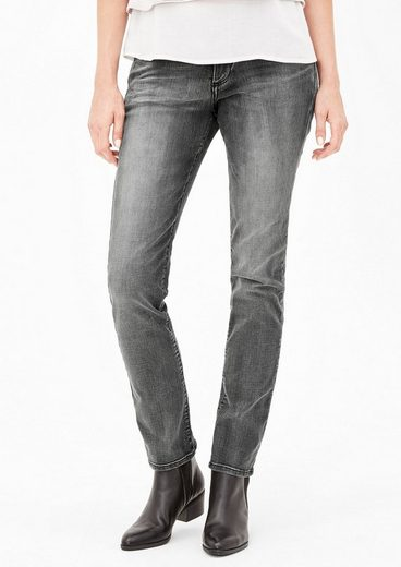 s.Oliver RED LABEL Shape Slim: Graue Stretch-Jeans