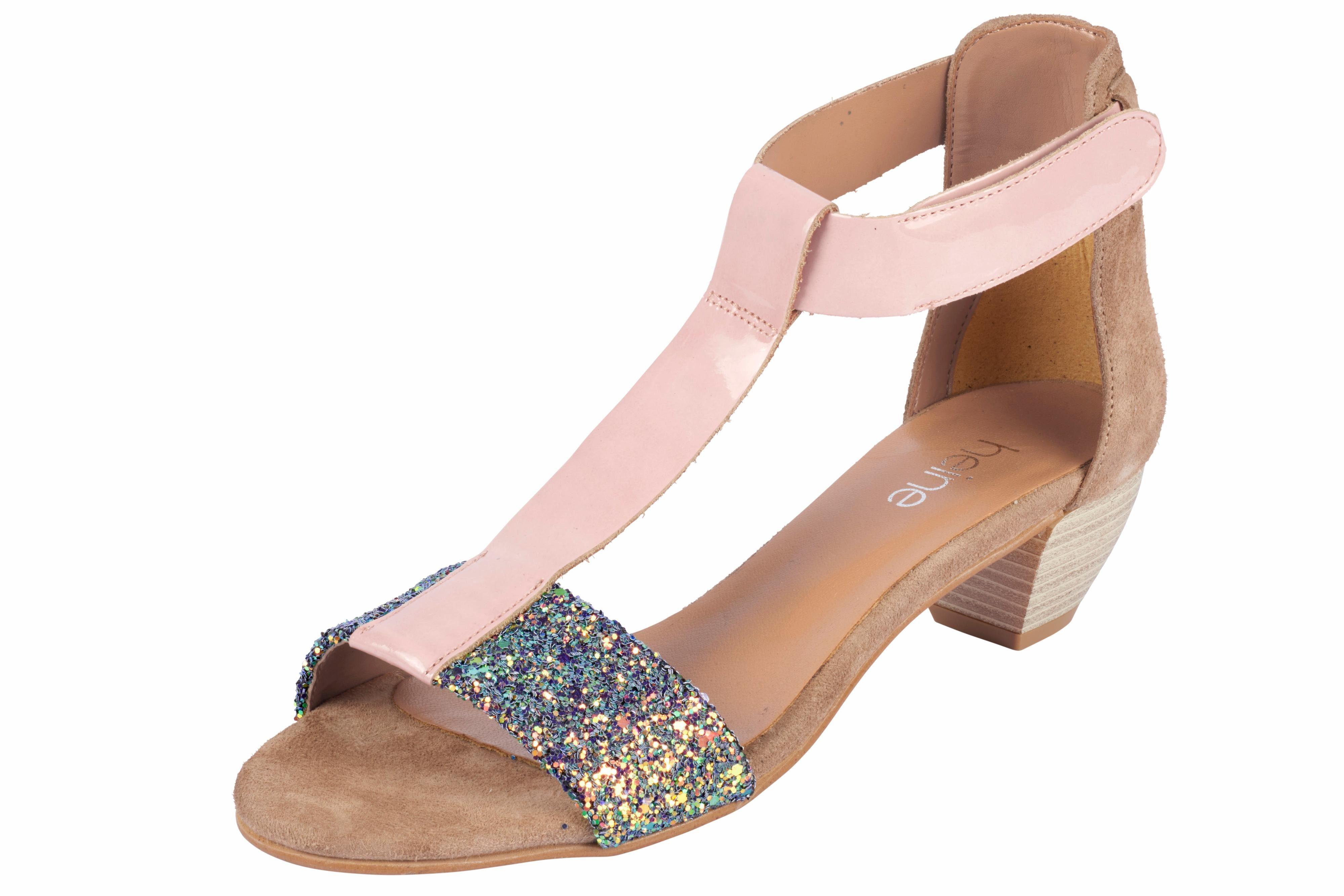 Heine Sandalette mit Glitter online kaufen  rosé#ft5_slash#bunt