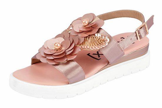 XYXYX Sandalette mit Blütenapplikation