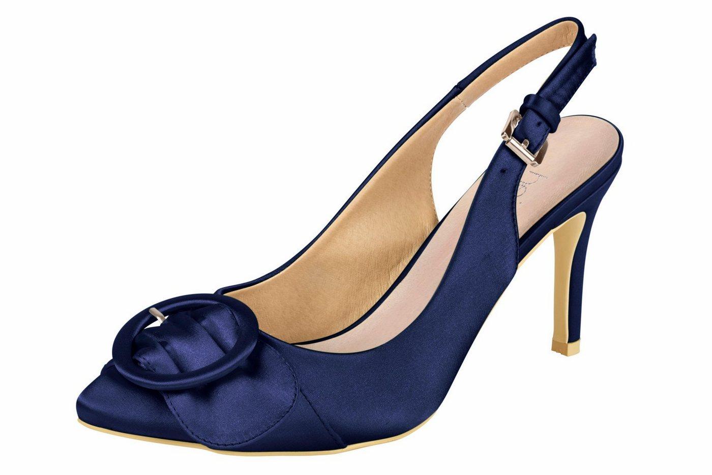 Heine Slingpumps aus Satinware | Schuhe > Pumps > Slingpumps | Blau | Ca | heine