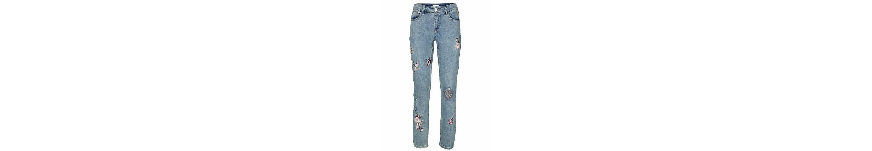 LINEA TESINI by Heine Jeans mit Stickerei Verkauf Niedrigster Preis Outlet-Store Online-Verkauf Die Offizielle Website Zum Verkauf aRQWwugWZf