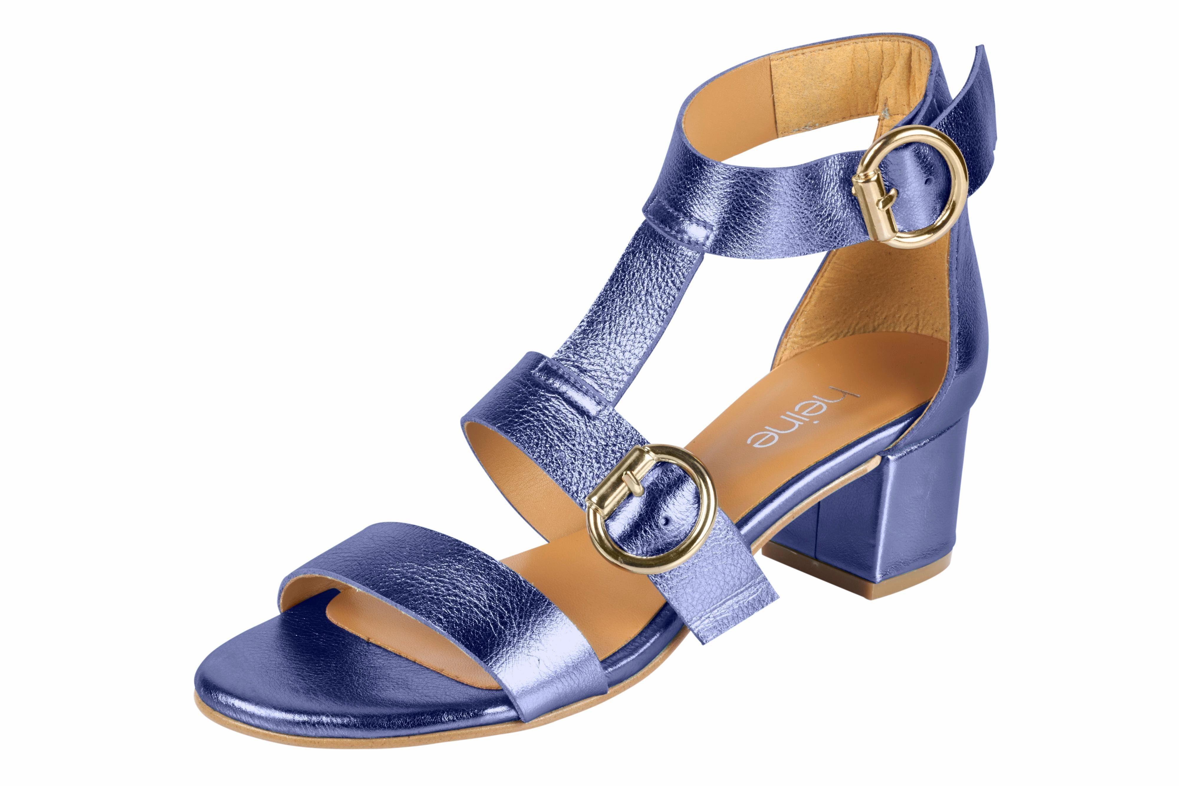 Heine Sandalette im Metallic-Look online kaufen  flieder#ft5_slash#metallic