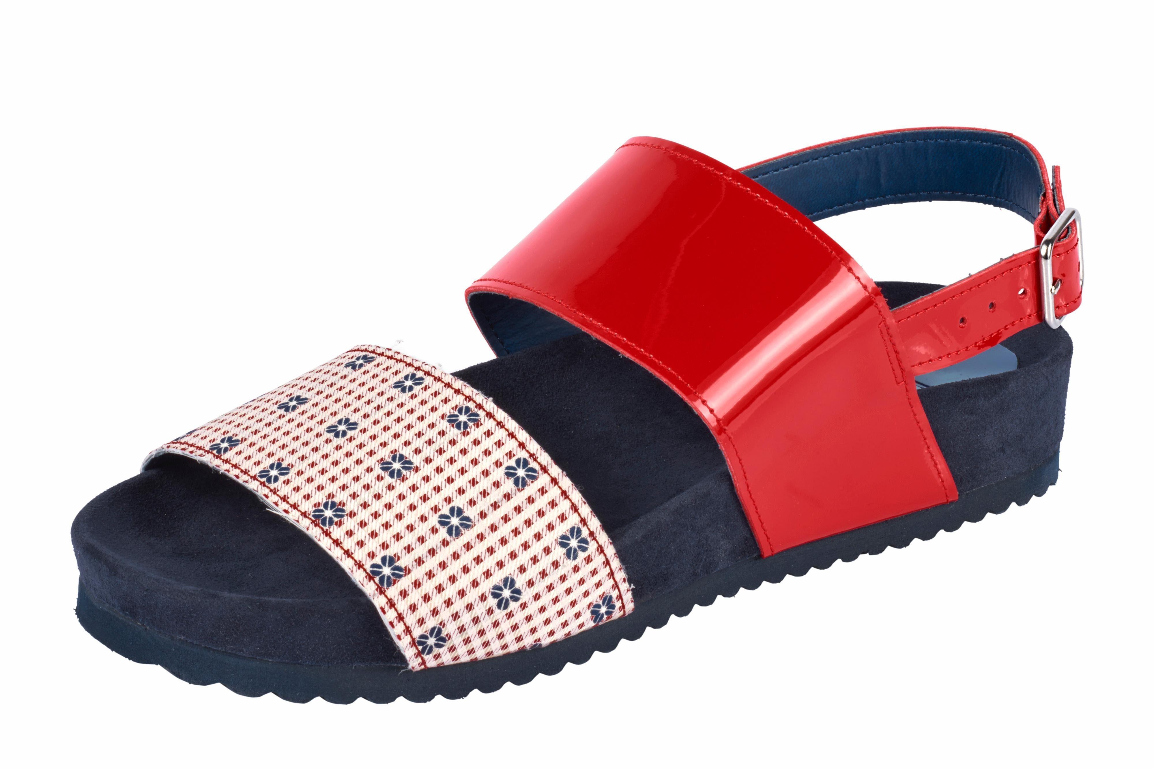Heine Sandalette im Materialmix online kaufen  rot#ft5_slash#marine