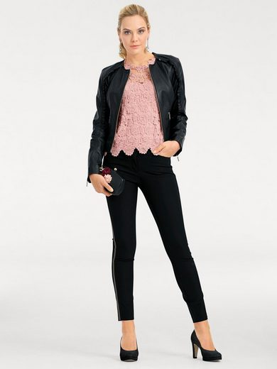 ASHLEY BROOKE by Heine Lederjacke, Lammnappa Lammnappa