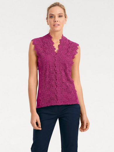 ASHLEY BROOKE by Heine Spitzenshirt