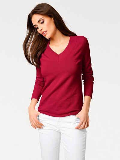 Пуловер с V-образный вырезом Heine