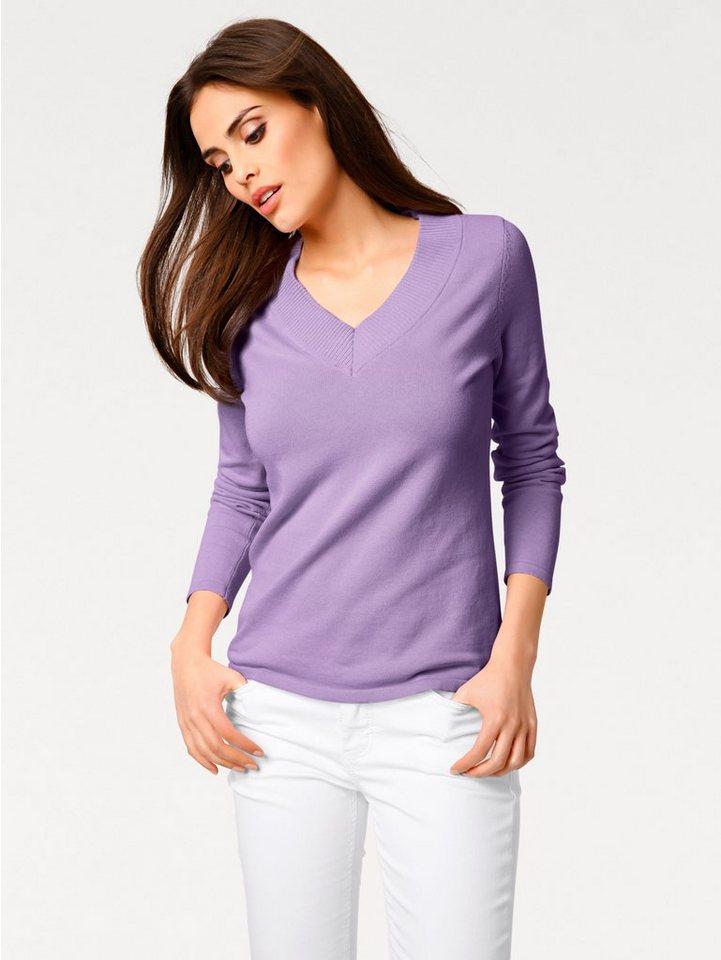 8e0f772a044dda heine CASUAL V-Pullover Feinstrick online kaufen | OTTO