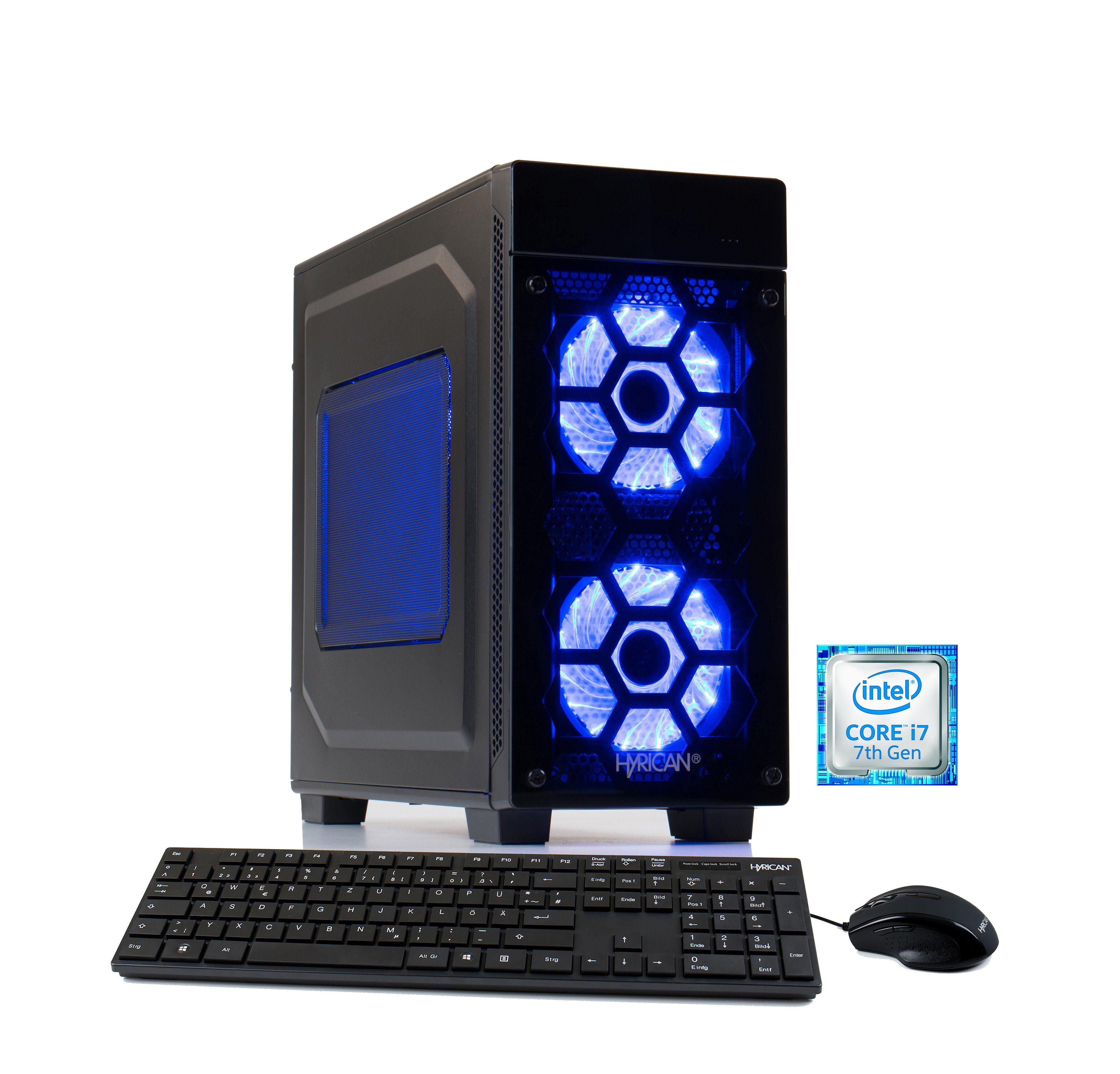 Hyrican Gaming PC i7-7700K 16GB 2TB 240GB SSD GeForce® GTX 1080 »Striker 5674«