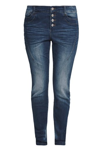 TRIANGLE Curvy Extra Slim: Dunkle Jeans
