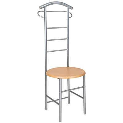 tectake Herrendiener »Herrendiener mit Sitzfläche«