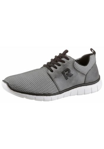 Herren Rieker Sneaker mit stylischer Waben-Strukturierung grau | 04059954581765