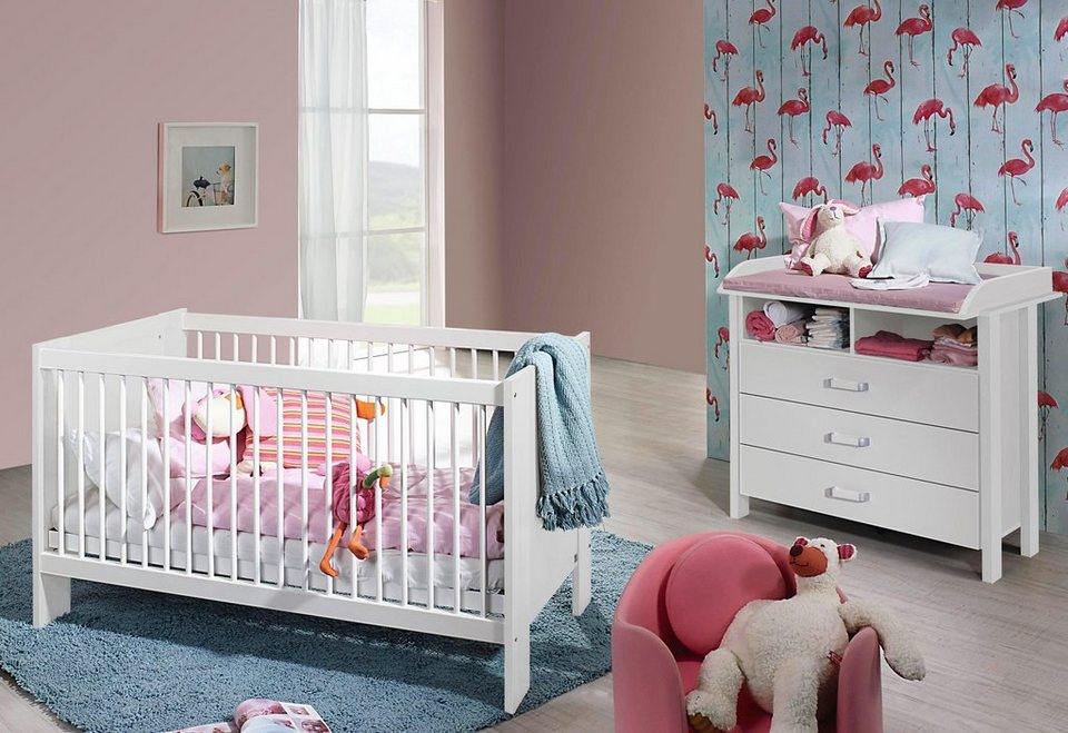 babyzimmer spar set miami babybett wickelkommode online kaufen otto. Black Bedroom Furniture Sets. Home Design Ideas