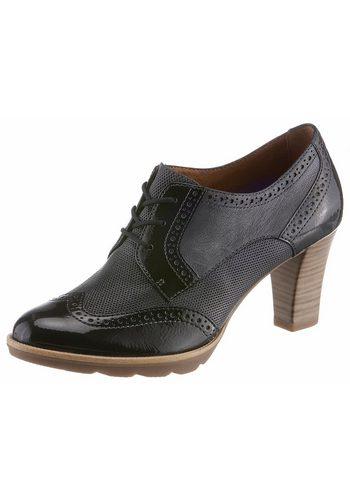 Damen Tamaris Schnürpumps mit ergonomisch geformter Brandsohle blau   04059252234370