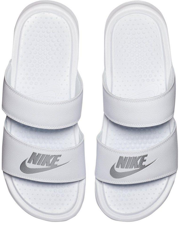 Damen Nike Sportswear »Wmns Benassi Duo Ultra Slide« Badesandale schwarz, weiß | 00887231300938