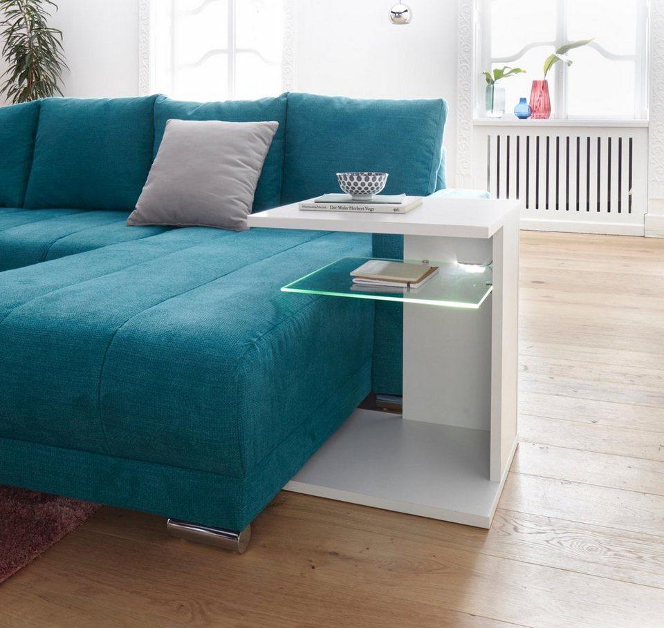 beistelltisch inklusive led beleuchtung kaufen otto. Black Bedroom Furniture Sets. Home Design Ideas