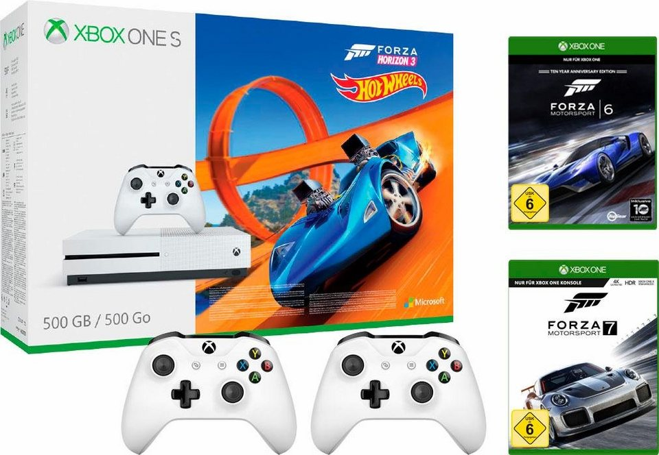xbox one s 500 gb forza horizon 3 dlc hot wheels. Black Bedroom Furniture Sets. Home Design Ideas
