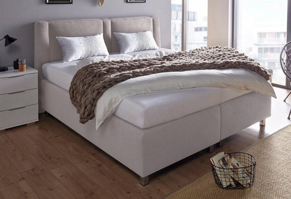 westfalia schlafkomfort boxspringbett inkl zierkissen online kaufen otto. Black Bedroom Furniture Sets. Home Design Ideas