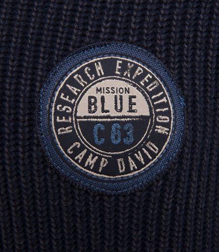CAMP DAVID V-Ausschnitt-Pullover