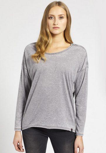 khujo Oversize-Shirt ARIANA, mit Melange-Optik