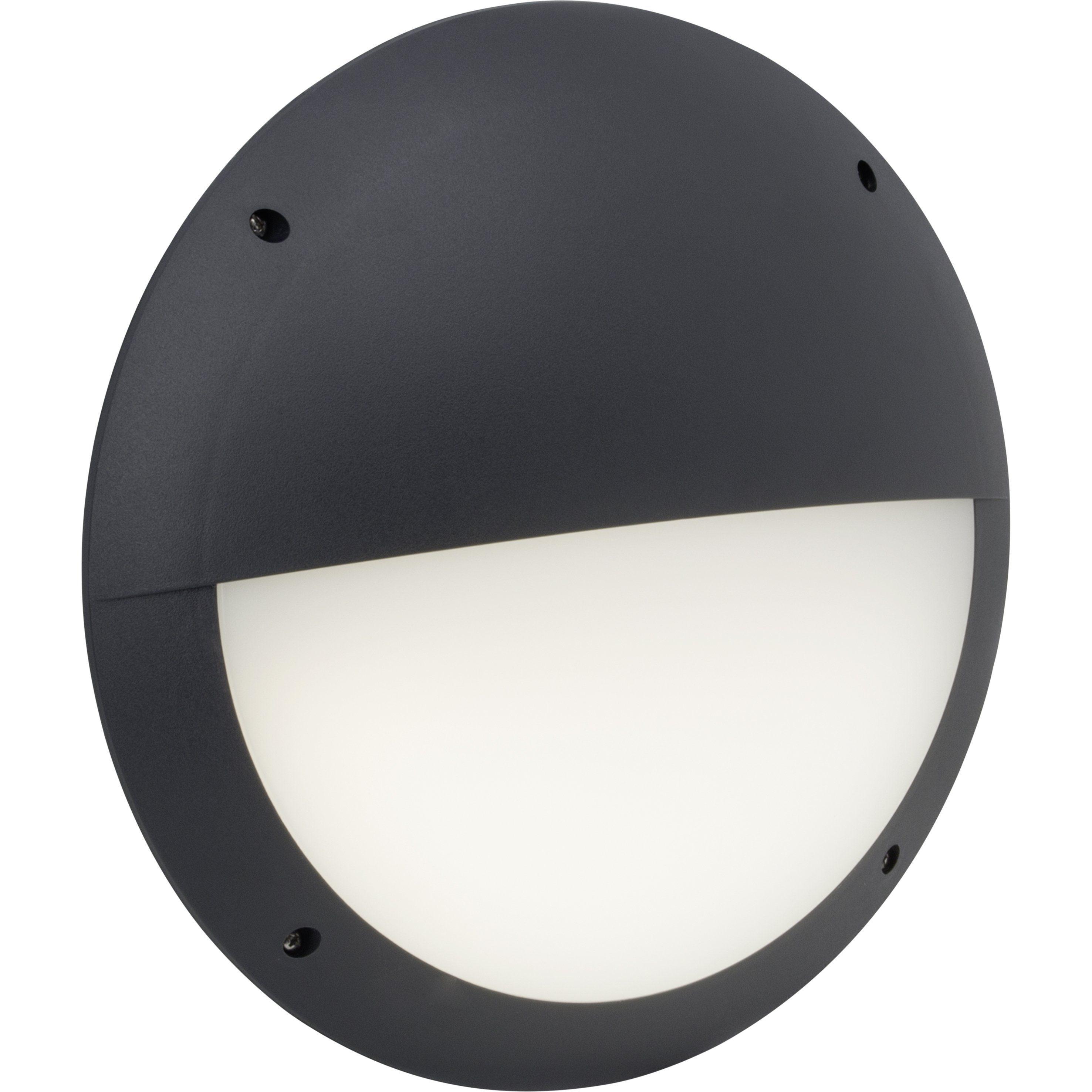 Brilliant Leuchten Ballina LED Außenwandleuchte mit Bewegungsmelder anthrazit IP66