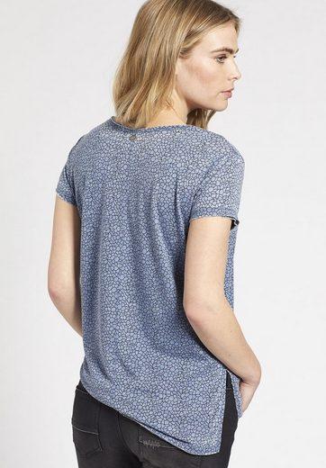 khujo T-Shirt LORELEI, mit verlängertem Rücken
