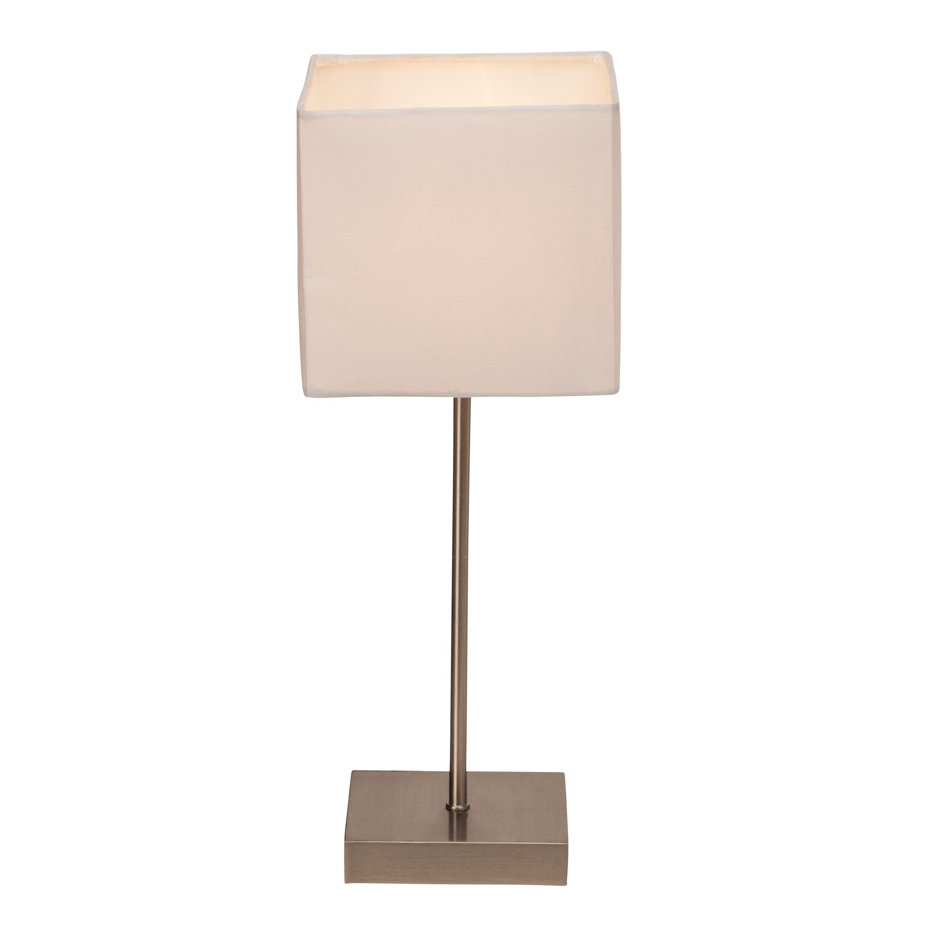 Brilliant Leuchten Aglae Tischleuchte mit Touchschalter weiß