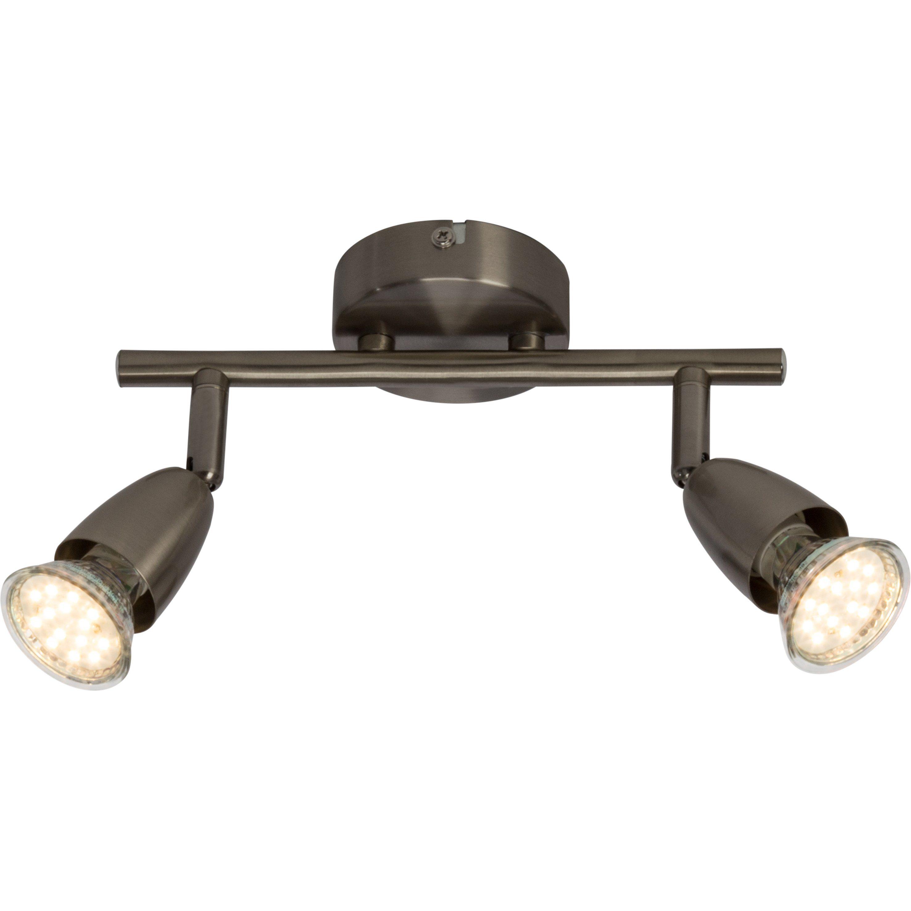 Brilliant Leuchten Amalfi LED Spotrohr, 2-flammig eisen
