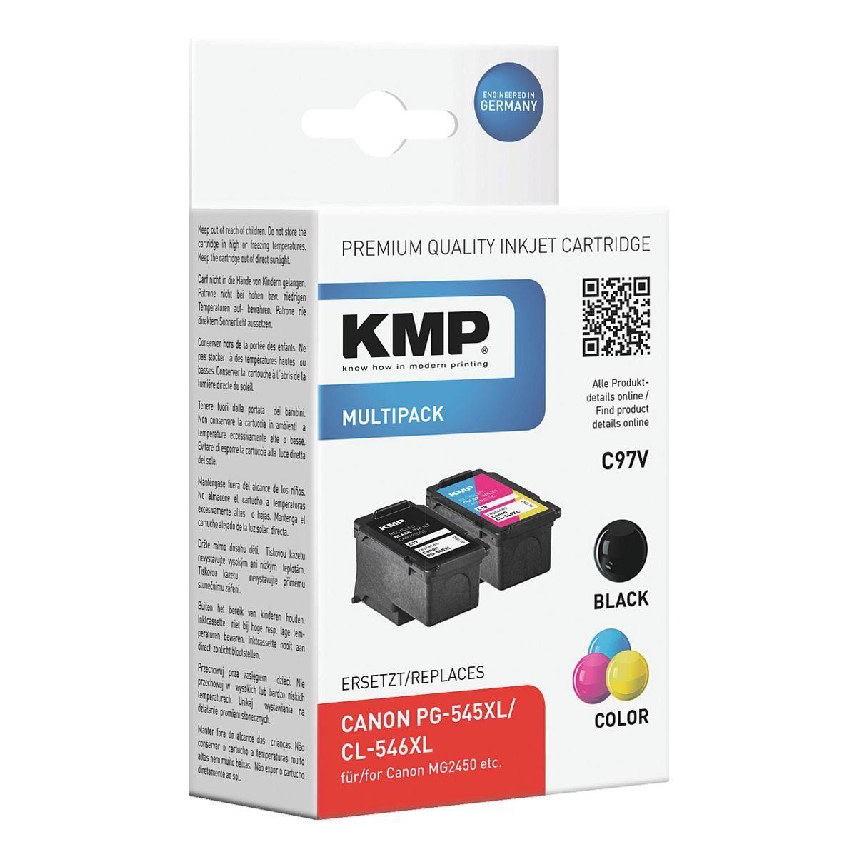 KMP Tintenpatronen-Set ersetzt Canon »PG-545XL/CL-546XL«