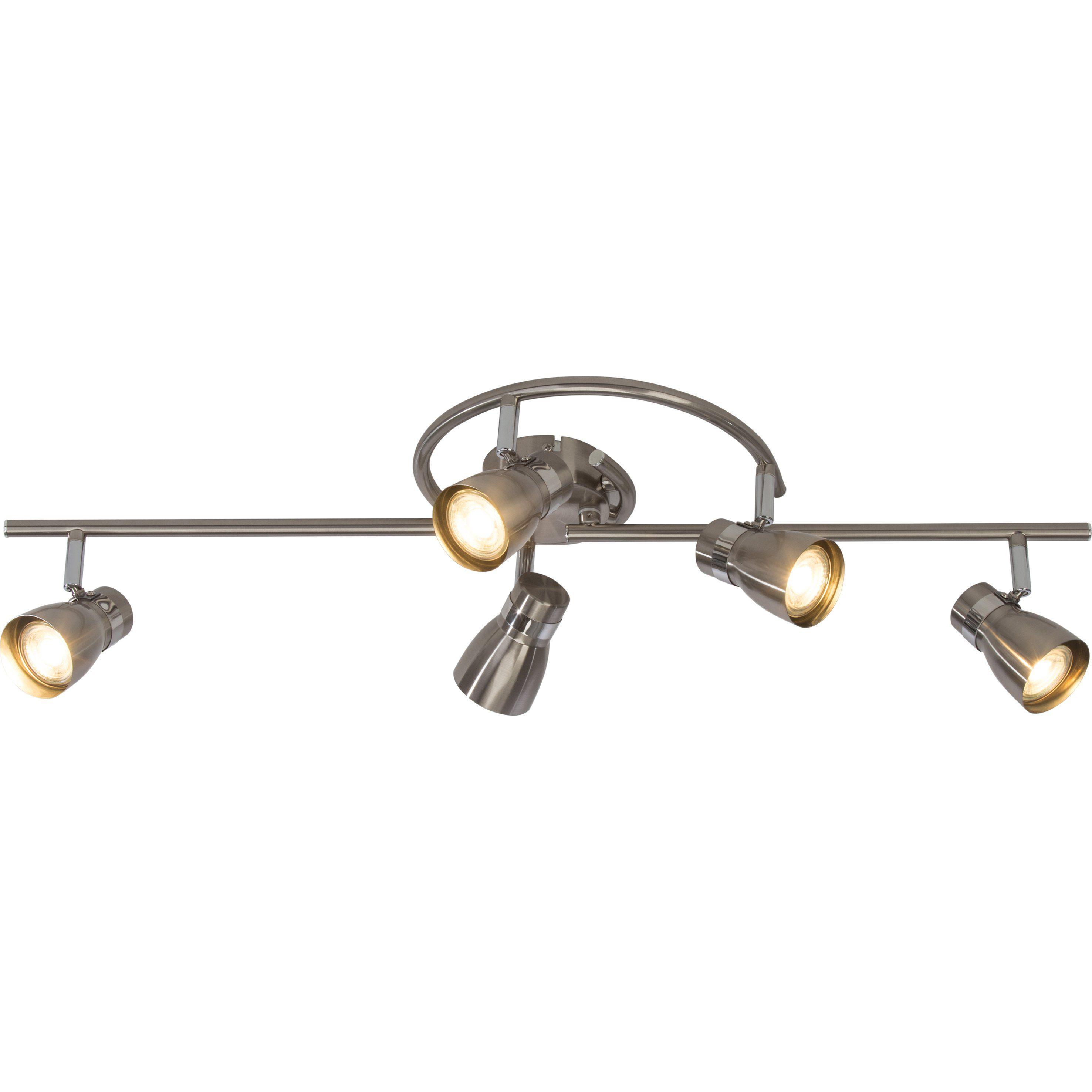 BreLight Mattie LED Deckenleuchte, 5-flammig eisen/chrom