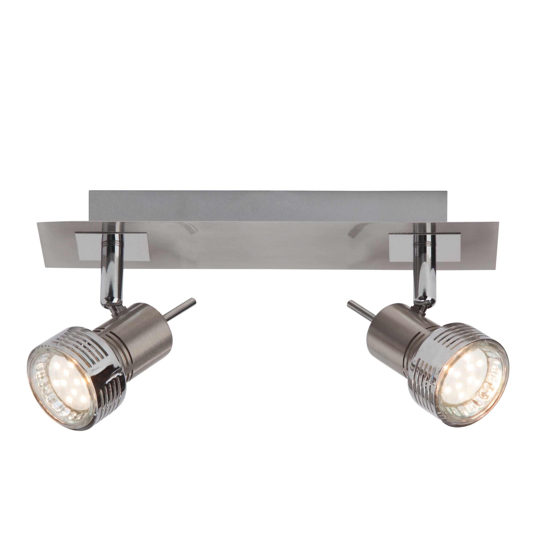 Brilliant Leuchten Kassandra LED Spotbalken 2flg eisen/chrom