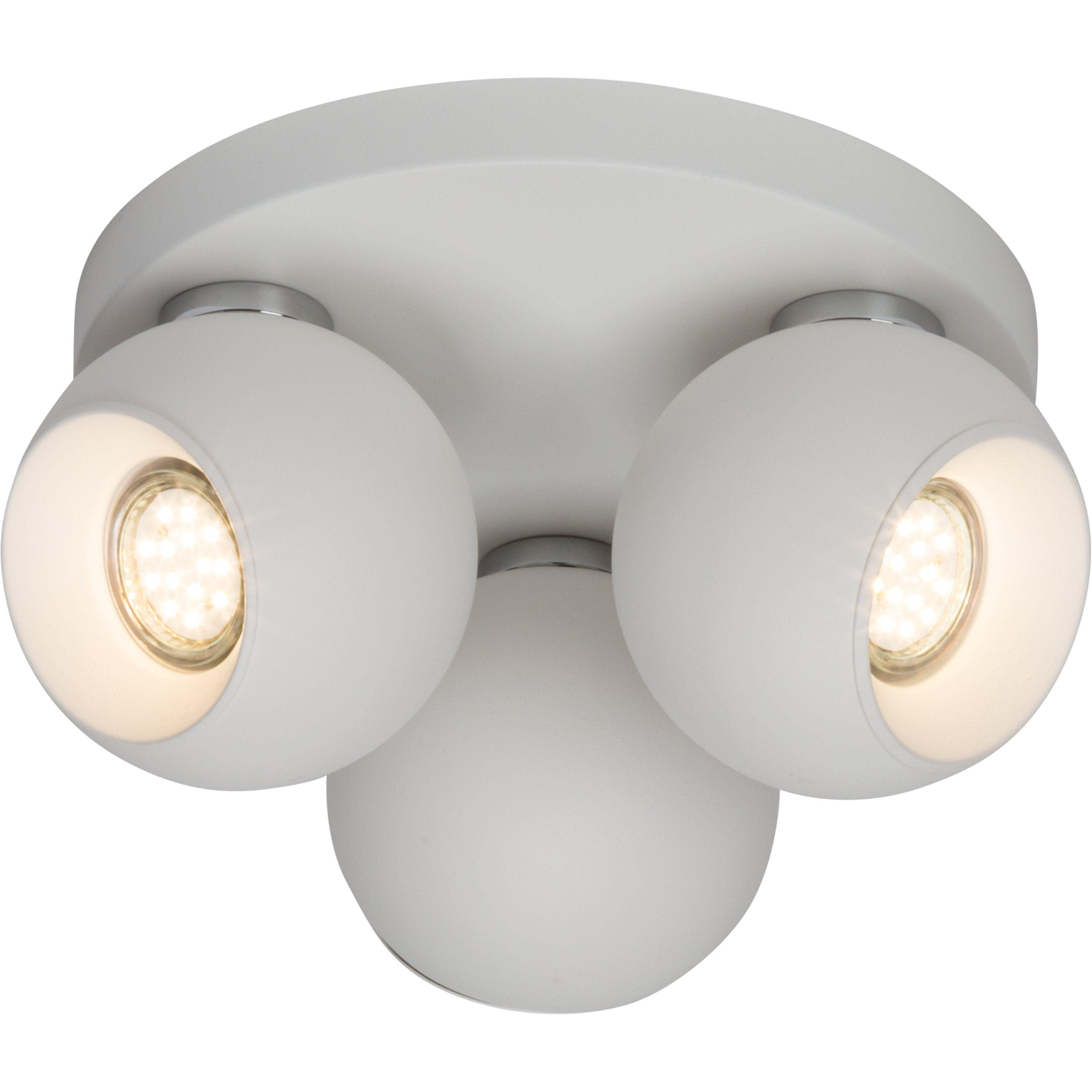 Brilliant Leuchten White Ball Spotrondell 3flg. weiß