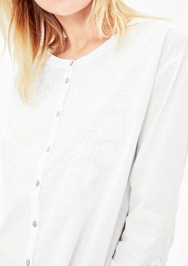 s.Oliver RED LABEL Popeline-Bluse mit Stickerei
