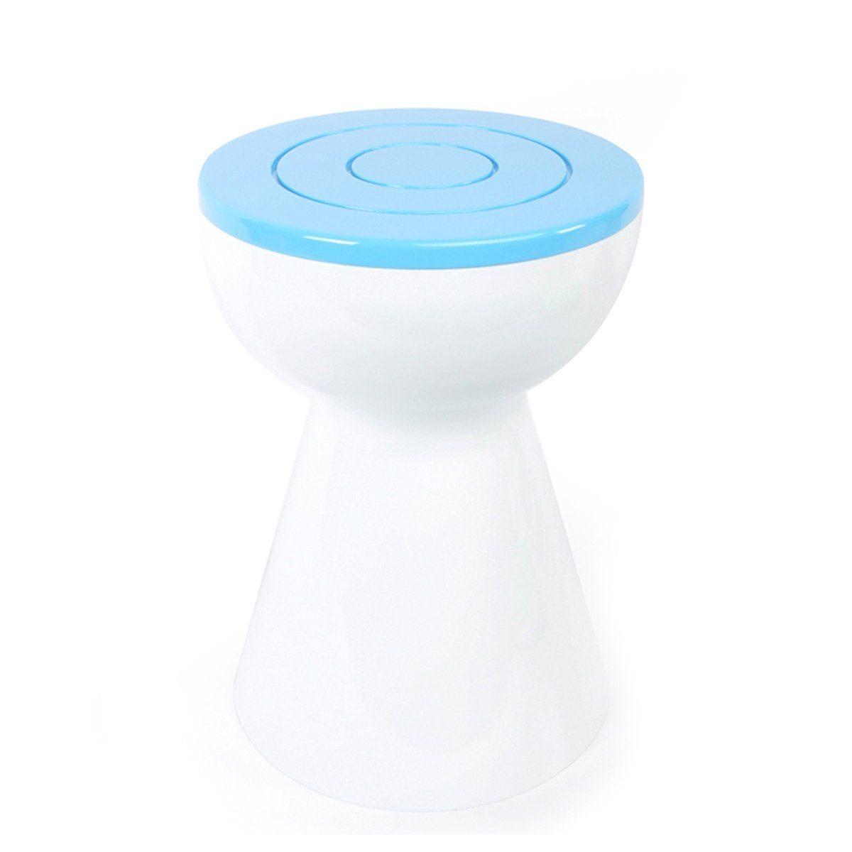 XLBoom XLBOOM Beistelltisch Boto, weiß/Himmelblau