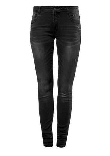 Q / S Conçu Par Sadie Superskinny: Jeans Mit Nieten