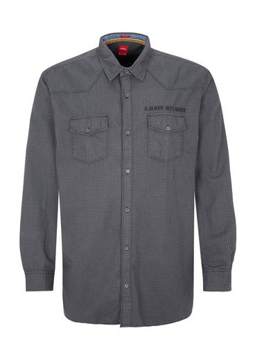 s.Oliver RED LABEL Regular: Karohemd aus Twill