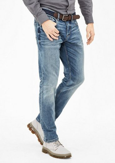 s.Oliver RED LABEL Tubx Straight: Jeans mit Gürtel