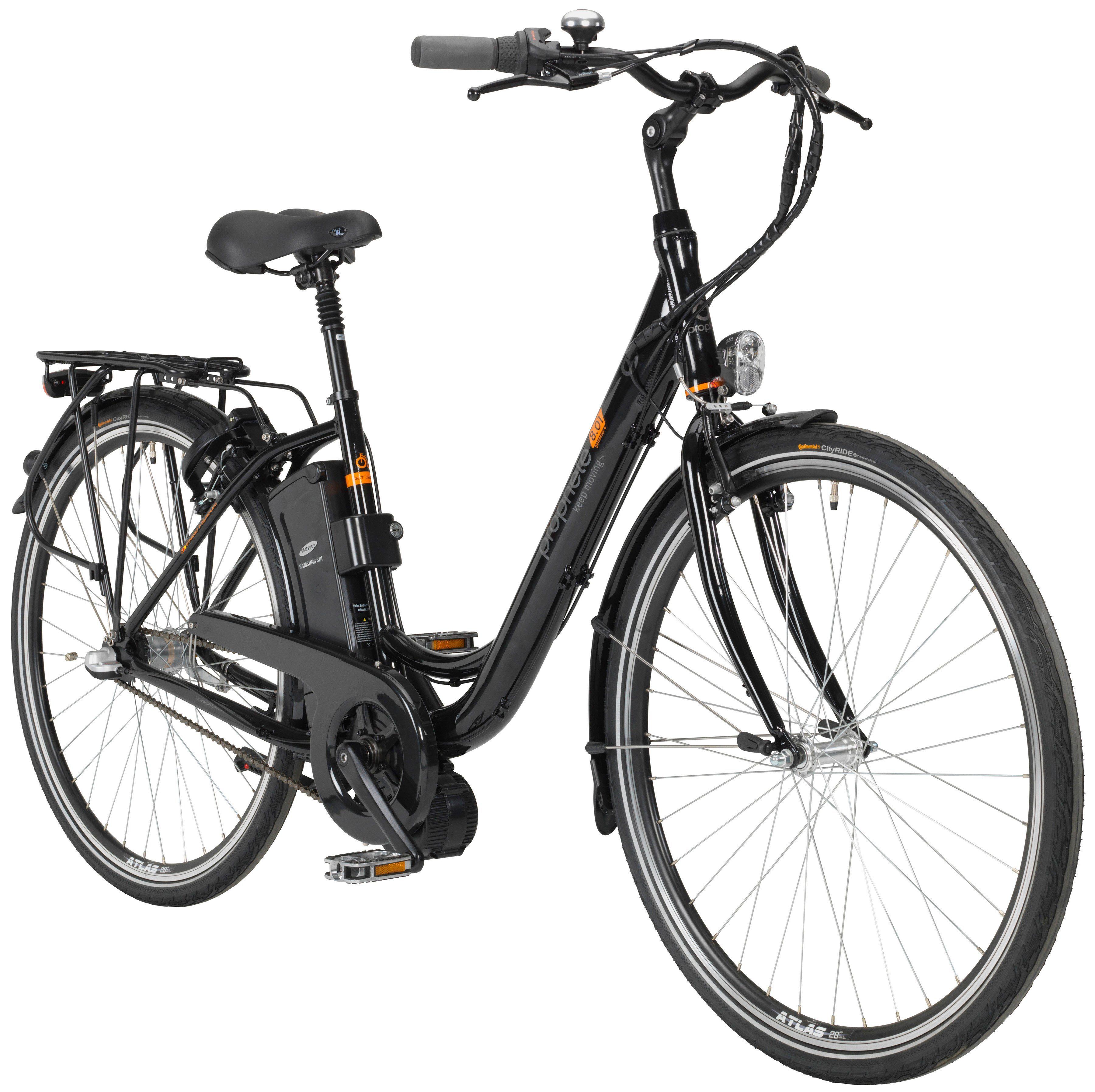 PROPHETE E-Bike City »GENIESSER e8.01«, 28 Zoll, 3 Gang, Mittelmotor