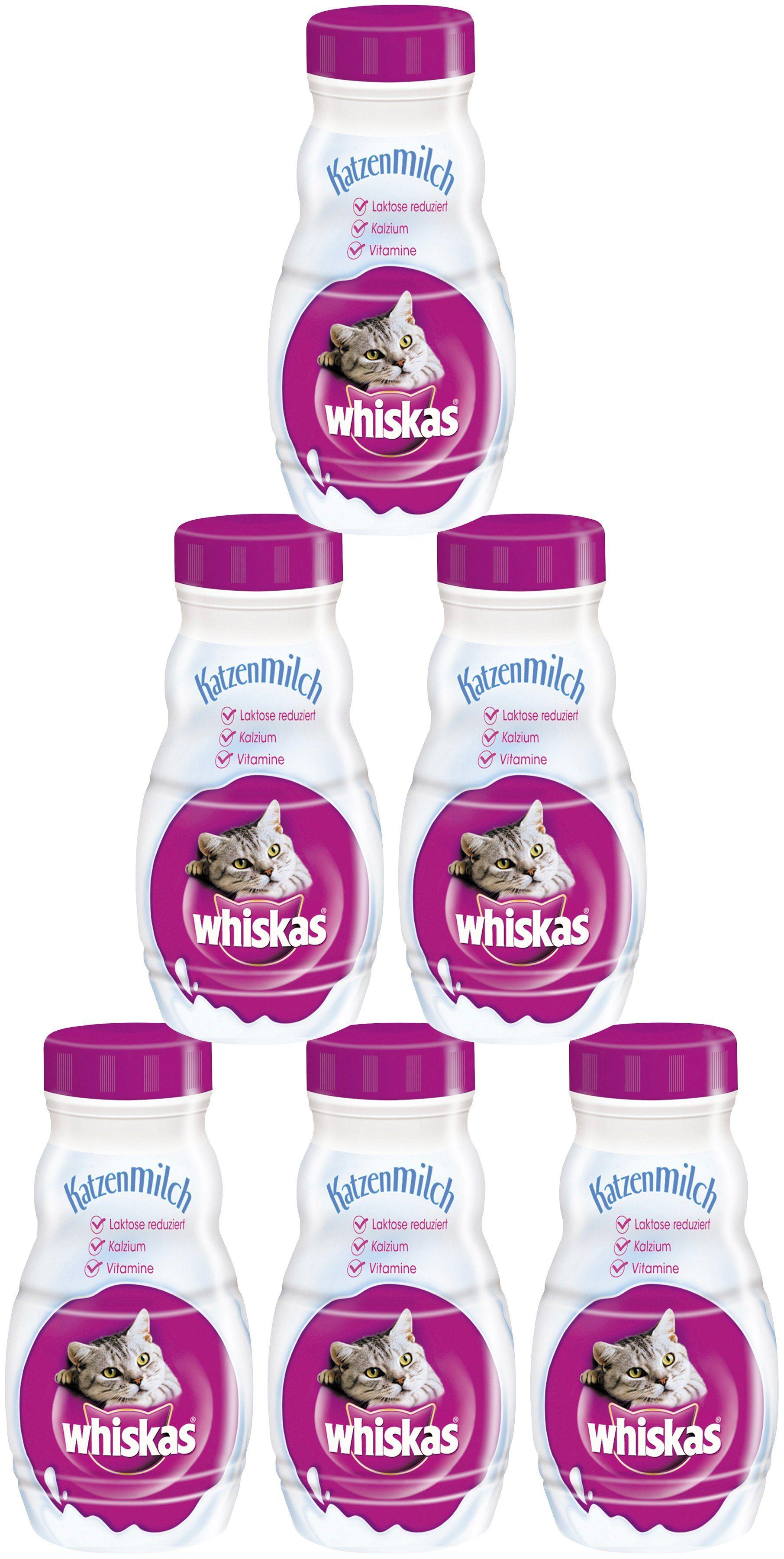 Whiskas Set: Katzensnack »Katzenmilch«, 6 Flaschen á 200 ml