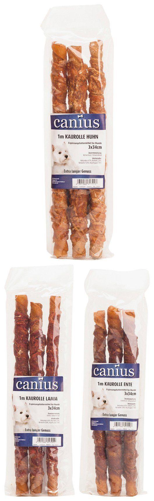 Canius Set: Hundesnack »Kaurollen Mix«, 3 Pakete á 3 Kaurollen