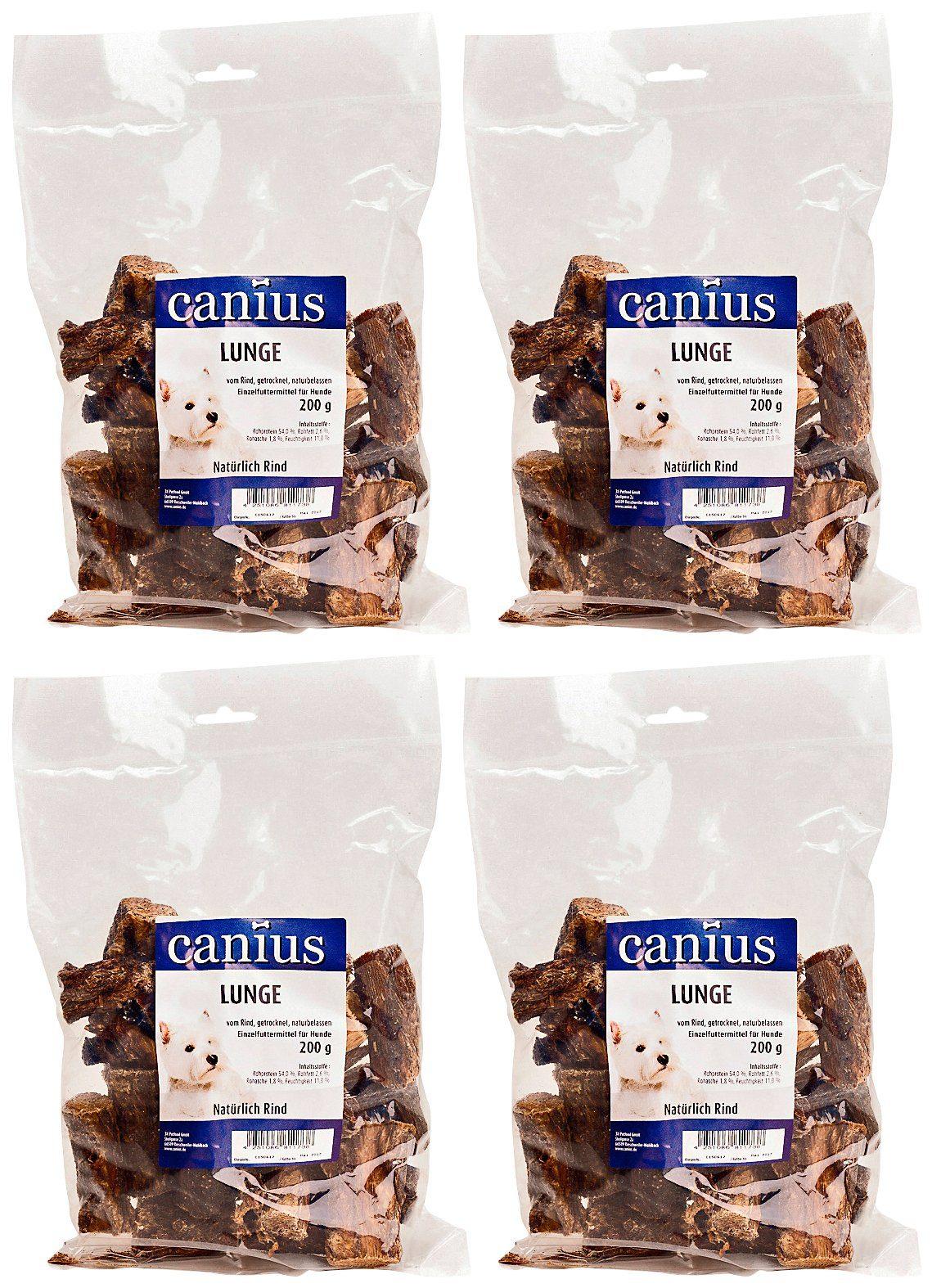 Canius Set: Hundesnack »Lunge«, 4 Beutel á 200 g