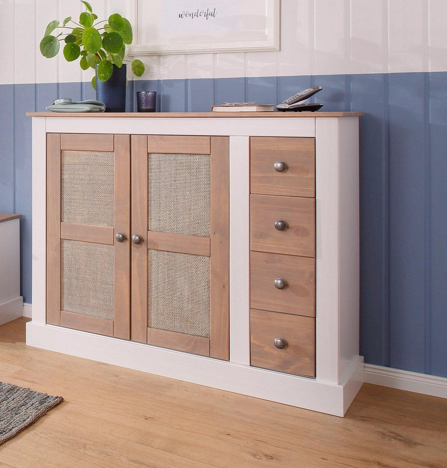 home affaire schuhschrank como aus massiver kiefer 110 cm breit online kaufen otto. Black Bedroom Furniture Sets. Home Design Ideas