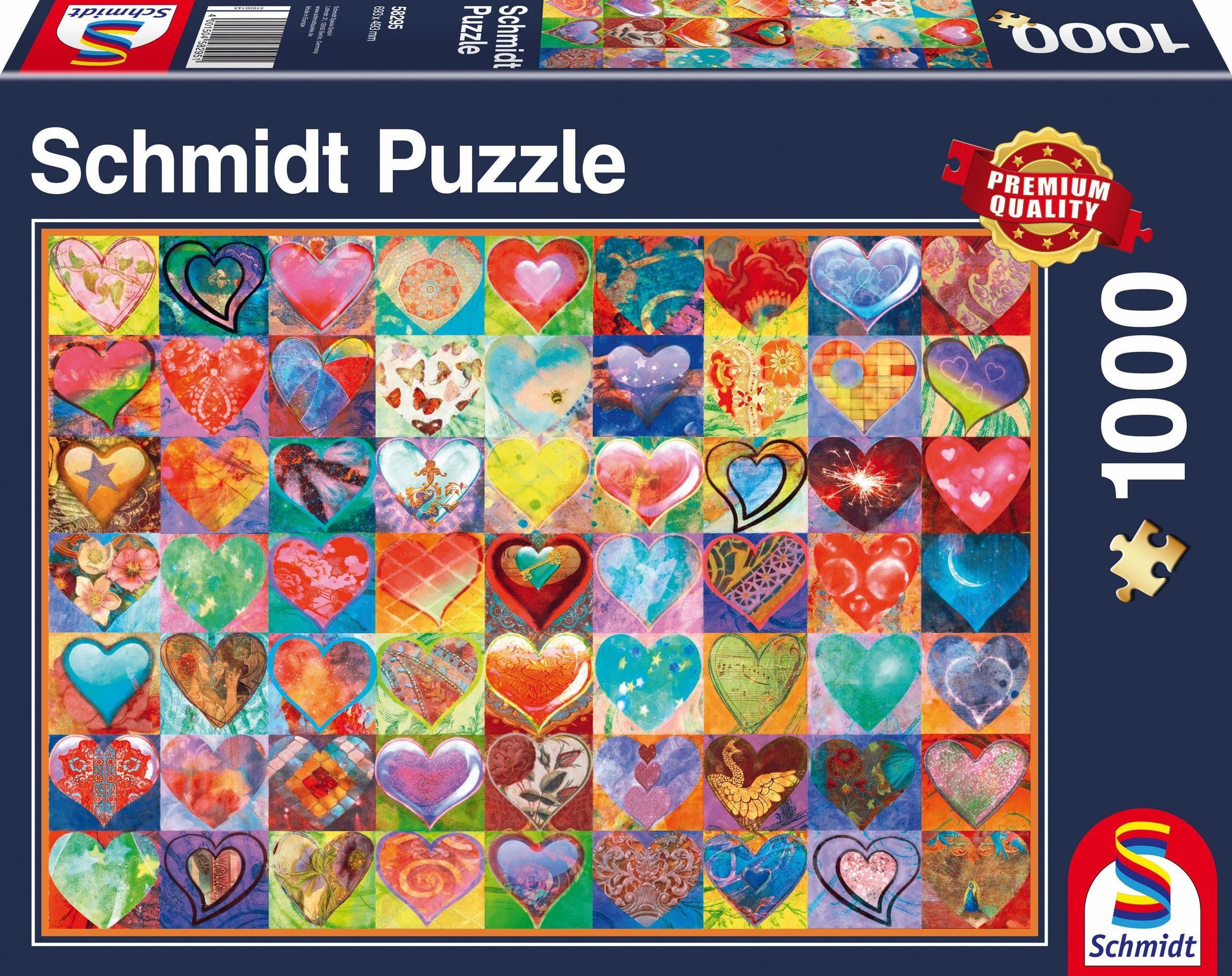 Schmidt Spiele Puzzle, »Herz an Herz, 1000 Teile«