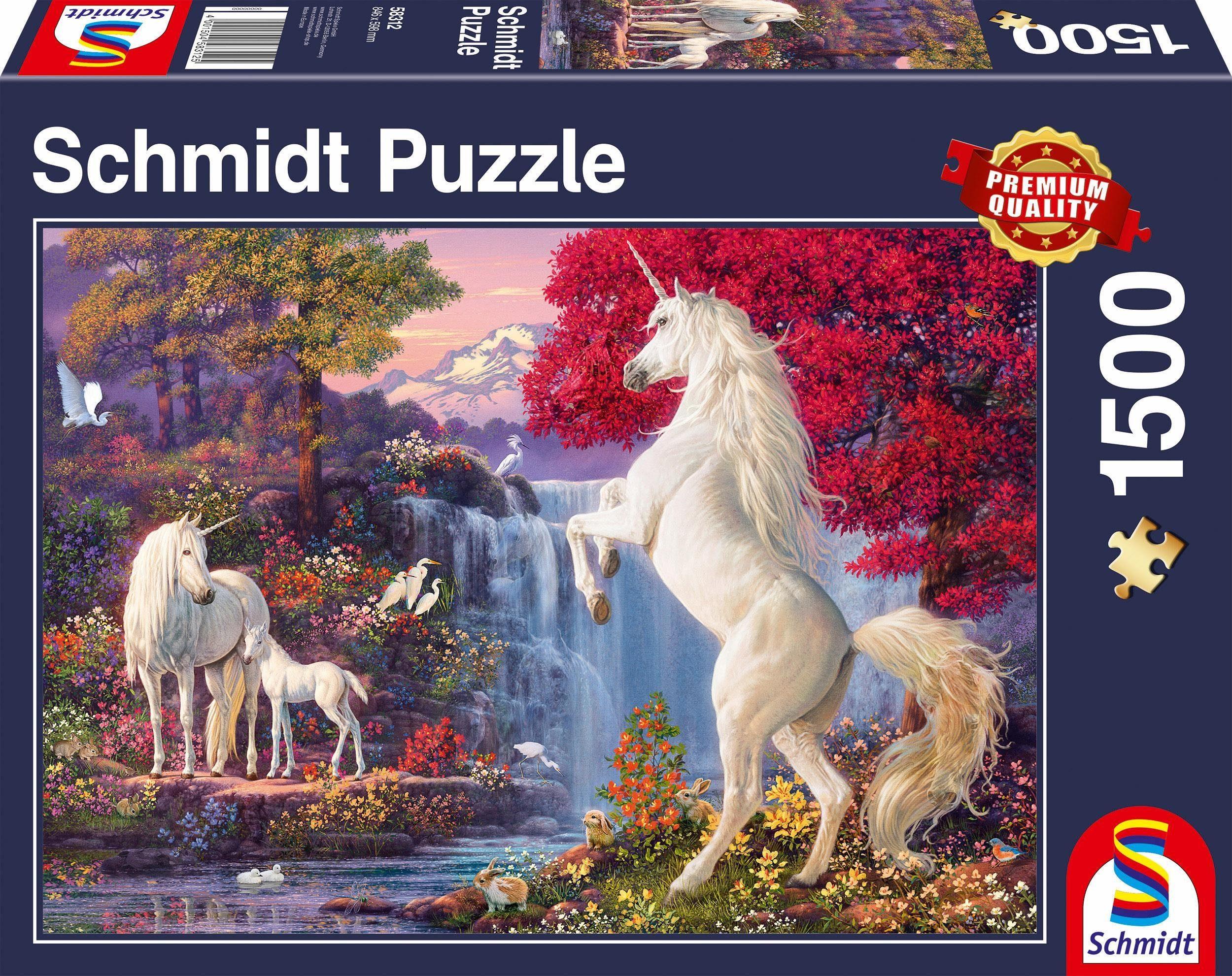 Schmidt Spiele Puzzle, »Triumph der Einhörner, 1500 Teile«