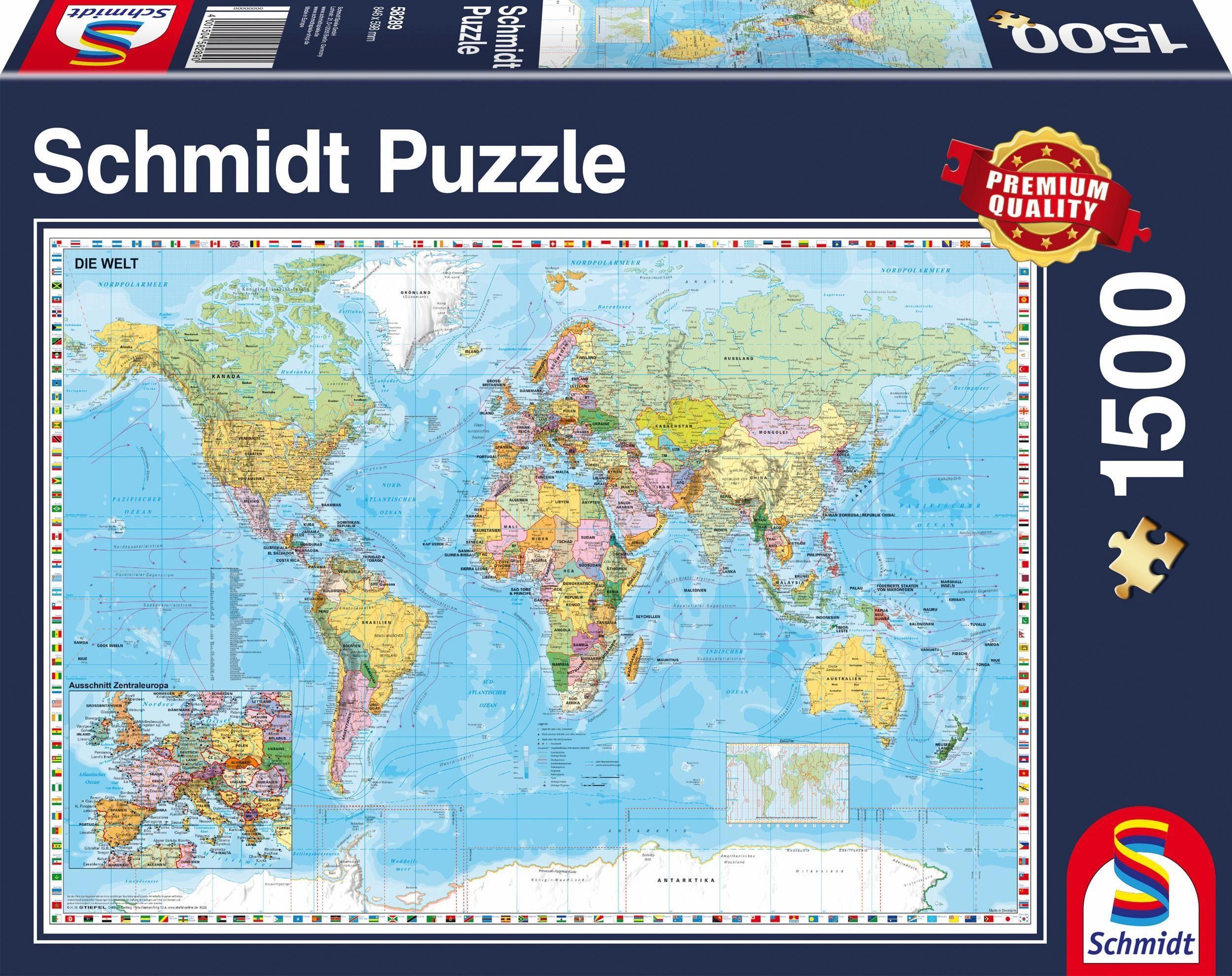 Schmidt Spiele Puzzle, »Die Welt, 1500 Teile«